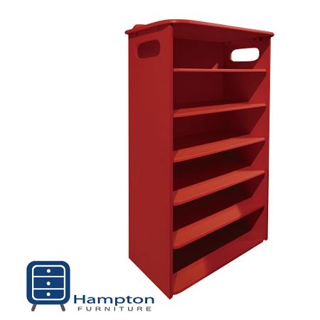 漢妮Hampton安琪拉六層鞋架-深紅  免組裝