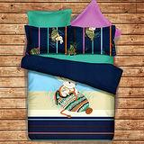 《KOSNEY 依偎童話》頂級加大蜜絲絨四件式床包被套組