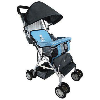 TONYBEAR 可揹式嬰兒三用背架推車- 藍色