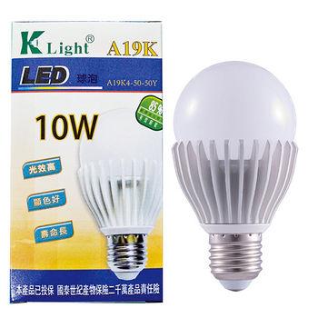 光然K-LIGHT LED省電燈泡-黃光(10W)