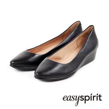【私心大推】gohappy 購物網Easy Spirit 素色經典羊皮低跟楔型包鞋-黑評價好嗎愛 買 板橋