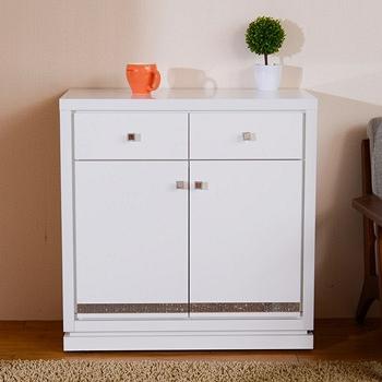 【日本直人木業】CARO白色美學80公分廚櫃