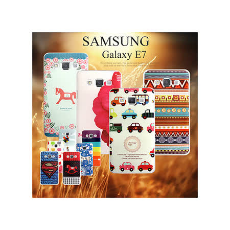 VXTRA 三星 SAMSUNG Galaxy E7 / SM-E700  藝術彩繪手機背蓋 手機殼