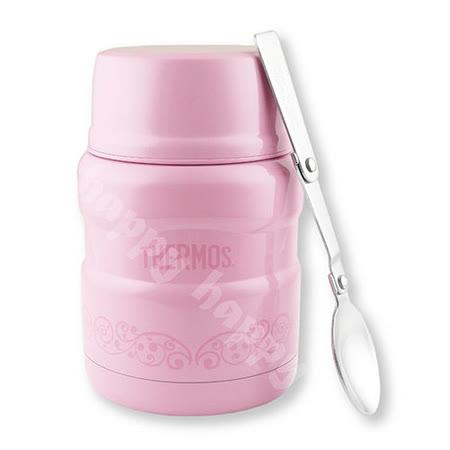 膳魔師不銹鋼食物悶燒杯保溫罐470ml粉桃歐蕾