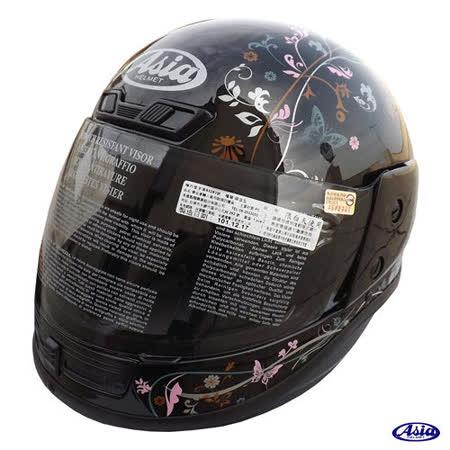 「ASIA Breeze A801」花紋全罩式安全帽 黑