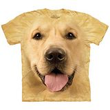 【摩達客】(預購) 美國進口The Mountain 大黃金獵犬臉 純棉環保短袖T恤