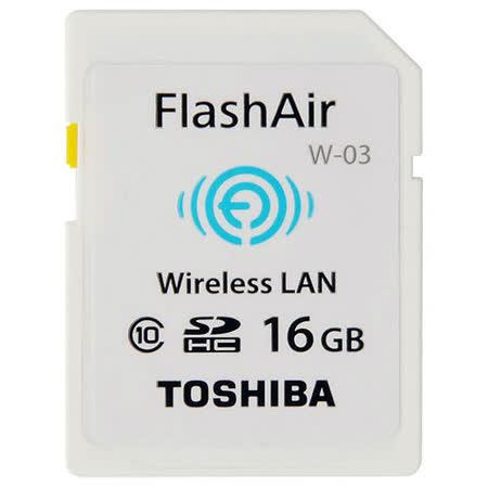 TOSHIBA 16GB FlashAir SDHC Class10 無線記憶卡(公司貨)