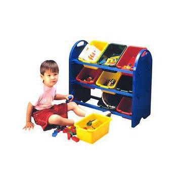 寶貝家 三層玩具收納架(9桶) 台灣生產