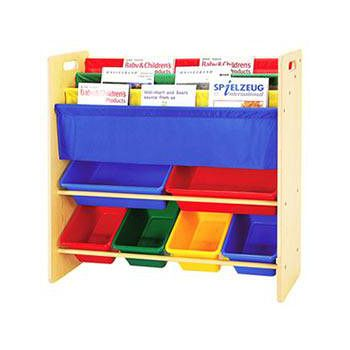 寶貝家 兒童書報玩具收納架 2大桶4中桶