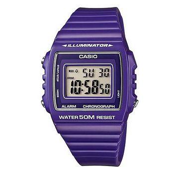 CASIO 繽紛個性馬卡龍休閒電子錶 (亮紫)