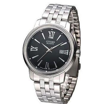 CITIZEN 都會羅馬風石英 男腕錶