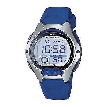CASIO 電子美人彩色數字運動膠帶錶 (深藍)