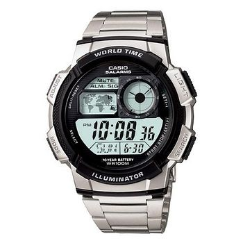 CASIO 雷霆世界戰士運動電子錶 (鋼帶)