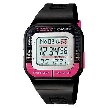 CASIO 輕巧亮麗慢跑用電子錶 (三色可選)