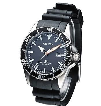 CITIZEN Eco-Drive 200米潛水運動錶 (銀色錶殼)