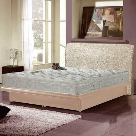 【AGNES 艾格妮絲】皇家飯店加厚緹花柔軟三線獨立筒床墊 (雙人加大) 6x6.2尺