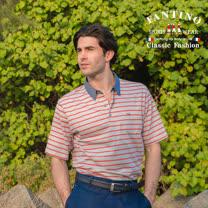 【FANTINO】男款 亮色休閒polo衫 (黃.紅) 431107-431108
