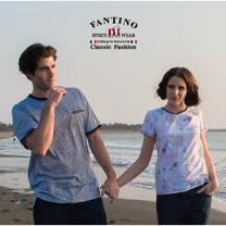 【FANTINO】男款 海洋休閒感65支雙絲光棉衫431317