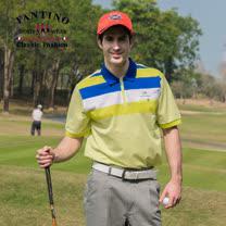 【FANTINO】男款 夏日搶色65支雙絲光棉衫(果綠、紫)431319-431320