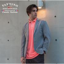 【FANTINO】男款 水洗醒目亮色棉衫(螢光橘、螢光粉)431330-431331