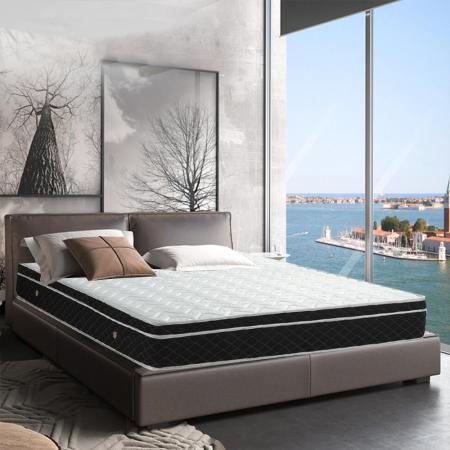 【AGNES 艾格妮絲】雲柔抗菌防蹣式備長碳三線獨立筒床墊(雙人加大)6x6.2尺