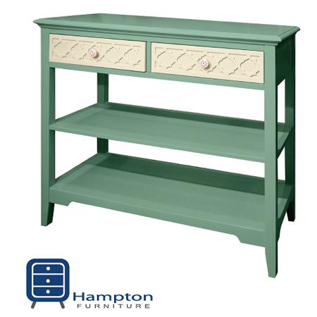 漢妮Hampton安琪拉二抽玄關桌-藍白