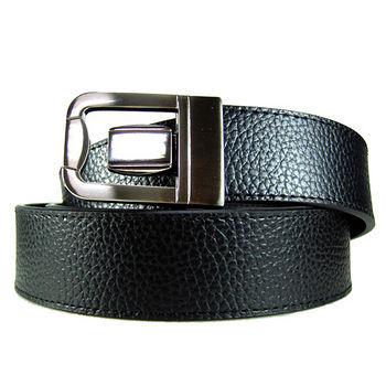 加長紳士皮帶18604-黑