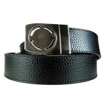 加長紳士皮帶18605-黑