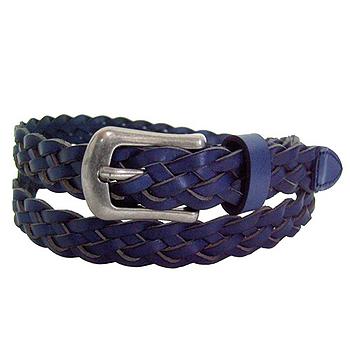 復古編織腰帶20801-藍