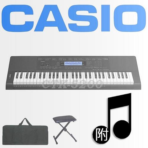 【CASIO 卡西歐】61鍵進階款電子琴含琴袋、琴椅-公司貨保固 (CTK-5200)