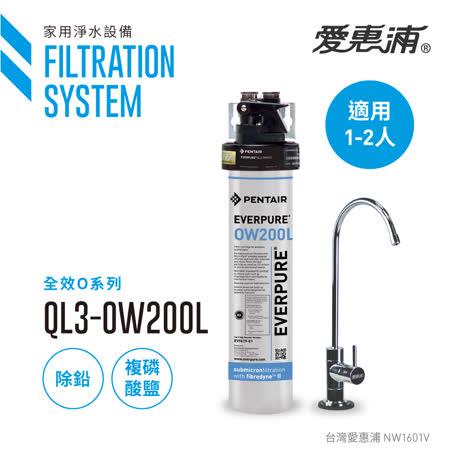 【愛惠浦公司貨】EVERPURE 除鉛抑垢精緻型淨水器(QL3-OW200L)