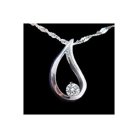 MANSTYLE 愛的淚滴 0.05ct 鑽石墜子