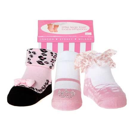 美國 Baby Emporio 造型棉襪 派對女孩 女嬰 嬰兒襪 襪子 0-9M 3件組