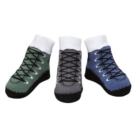 美國 Baby Emporio 造型棉襪 造型靴子 男嬰 嬰兒襪 襪子 0-9M 3件組
