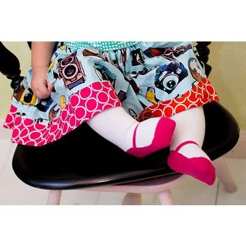 美國 Baby Emporio 造型棉襪 瑪莉珍 褲襪 女嬰 嬰兒襪 襪子 桃紅色 0-6M 6-12M