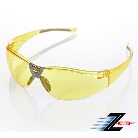 【視鼎Z-POLS】頂級夜用增光黃防爆PC抗UV400 運動防風眼鏡!盒裝全配