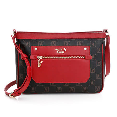 PLAYBOY- NS- Stylish (風尚系列) 斜背包-紅色