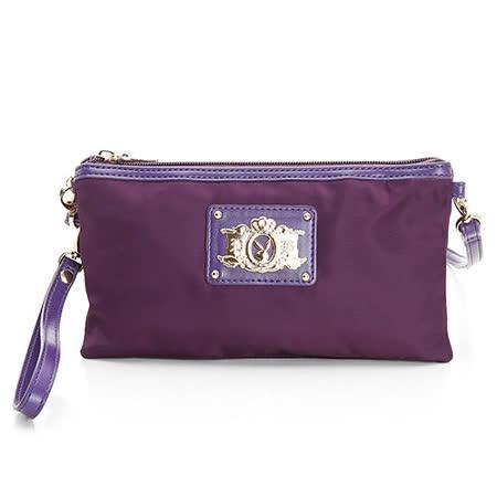 PLAYBOY- S- Solid Color 系列2WAY手拿包-紫色