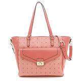PLAYBOY- Heritage 系列2WAY肩背包-粉紅色