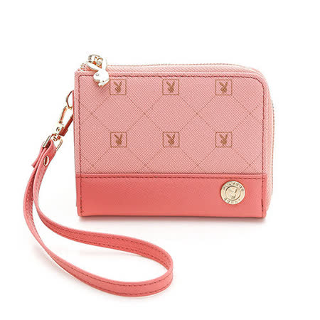 PLAYBOY- Heritage 系列手挽零錢包-粉紅色