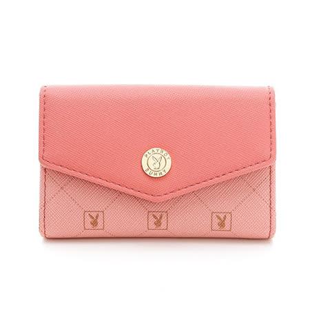 PLAYBOY- Heritage 系列卡夾零錢包-粉紅色