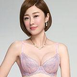 【Audrey】輕透V弧蝶 大罩杯B-E罩內衣(芋粉色)