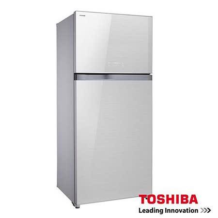 TOSHIBA東芝554L雙門變頻玻璃鏡面冰箱GR-WG58TDZ(ZW)+送基本安裝