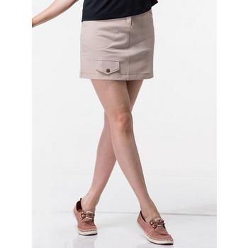 【EverSmile】女口袋造型彈性A字裙