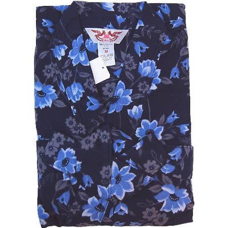 【波克貓哈日網】日本製家居和服◇和服式睡衣◇《冬季厚版》藍花 M