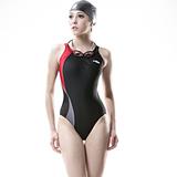 【SAIN SOU】競賽/泳隊/專業用大女連身三角泳裝加贈矽膠泳帽7005