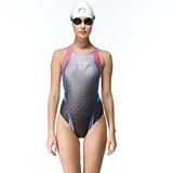 【SAIN SOU】競賽/泳隊/專業用大女連身三角泳裝加贈矽膠泳帽7017