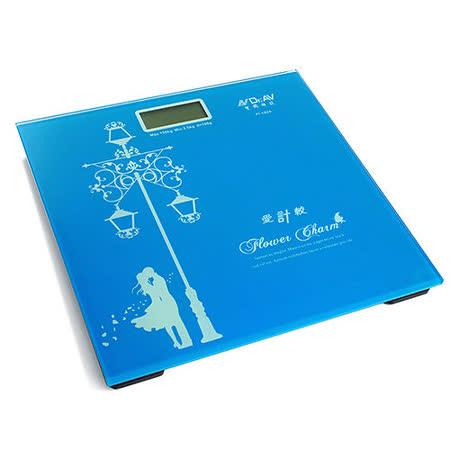 【Dr.AV】歐風藍光LCD電子體重計(PT-102A)