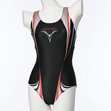 【SAIN SOU】競賽/泳隊/專業用大女連身三角泳裝加贈矽膠泳帽 7018