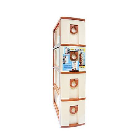 [百貨通]四層連環縫隙櫃 整理櫃 置物櫃 四層櫃